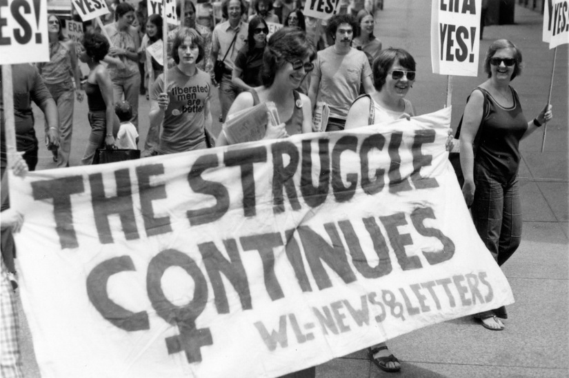 1977 ERA March with Suzanne French, Jane McKeever, & Mary Joan S
